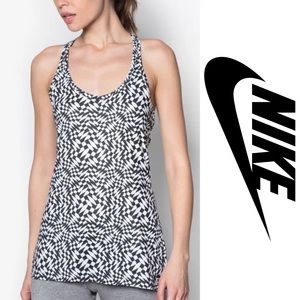 NIKE Get Fit Checker Racerback Tank